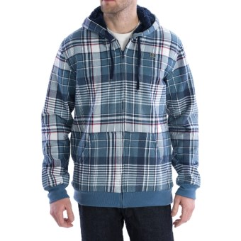 DC Shoes Pikenson Hoodie Sweatshirt - High-Pile Fleece Lining (For Men) in Blue Ashes