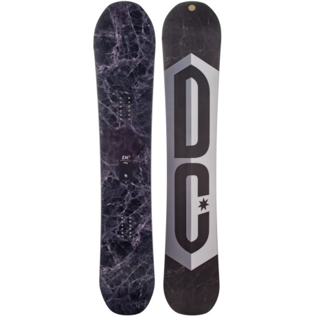 DC Shoes Ply Snowboard in Fig Marble W/Fig Marble/White/Purple/Black Logo
