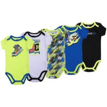 DC Shoes Printed Baby Bodysuits - 5-Pack, Short Sleeve (For Infants) in Blue/White/Lime/Black - Closeouts