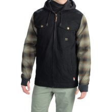 DC Shoes Provoke Flannel Shirt Jacket - Insulated (For Men) in Anthracite - Closeouts