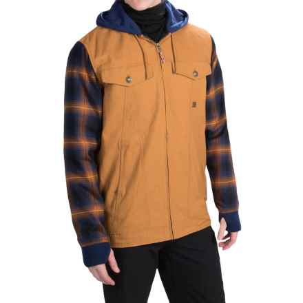 DC Shoes Provoke Flannel Shirt Jacket - Insulated (For Men) in Cathay Spice - Closeouts