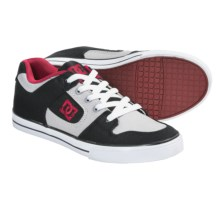 DC Shoes Pure Canvas Skate Shoes (For Youth Boys) in Black/True Red/Battleship - Closeouts