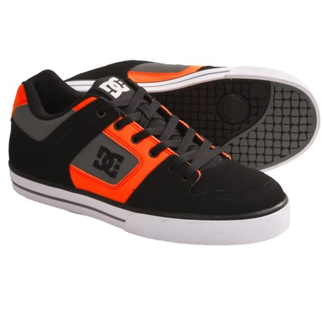 DC Shoes Pure Skate Shoes (For Men) in Black/Fluorescent/Orange