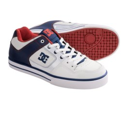 DC Shoes Pure XE Skate Shoes (For Men) in White/Black Plaid