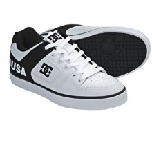DC Shoes Pure XE Skate Shoes (For Men) in White/Dc Print - Closeouts