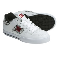 DC Shoes Pure XE Skate Shoes (For Men) in White/Red/Print - Closeouts
