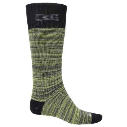 DC Shoes Random Knitting Ski Socks - Crew (For Men) in Black Multi - Closeouts