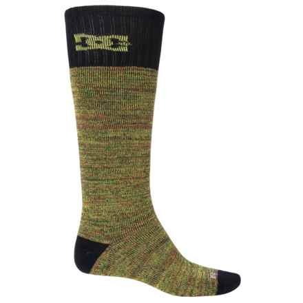 DC Shoes Random Knitting Ski Socks - Crew (For Men) in Rasta Multi - Closeouts