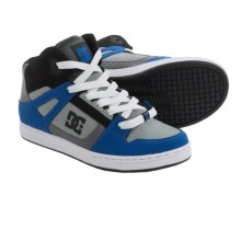 DC Shoes Rebound Skate Shoes (For Boys) in Blue/Black/Grey - Closeouts
