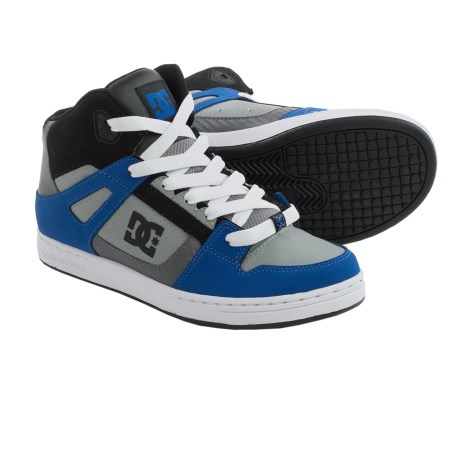 DC Shoes Rebound Skate Shoes (For Boys) in Blue/Black/Grey