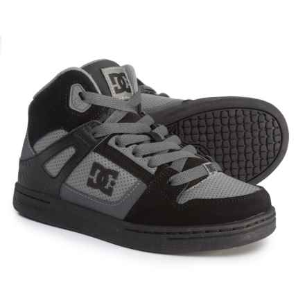 DC Shoes Rebound Sneakers (For Boys) in Black - Closeouts