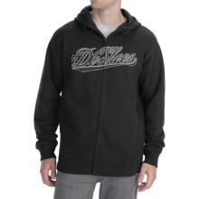 DC Shoes Riders Hoodie Sweatshirt - Full Zip (For Men) in Black - Closeouts