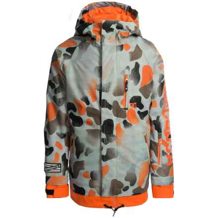 DC Shoes Ripley Snowboard Jacket - Waterproof, Insulated (For Big Boys) in Desert Camo Youth - Closeouts