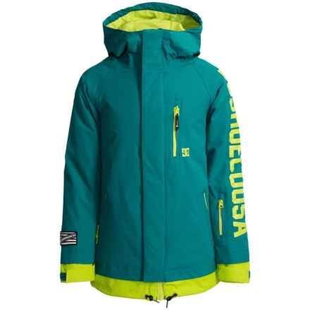 DC Shoes Ripley Snowboard Jacket - Waterproof, Insulated (For Big Boys) in Harbor Blue - Closeouts