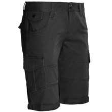 DC Shoes Runaway Cargo Shorts - Stretch Cotton (For Women) in Black - Closeouts