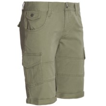 DC Shoes Runaway Cargo Shorts - Stretch Cotton (For Women) in Olive - Closeouts
