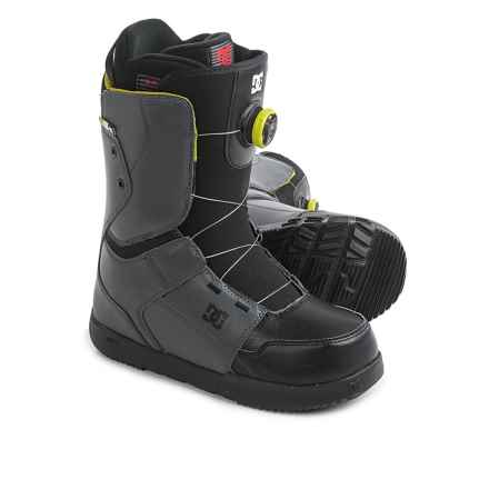 DC Shoes Scout BOA® Snowboard Boots (For Men) in Dark Shadow/Black/Lime - Closeouts