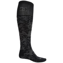 DC Shoes Scribble Midweight Ski Socks - Crew (For Men) in Black Multi - Closeouts