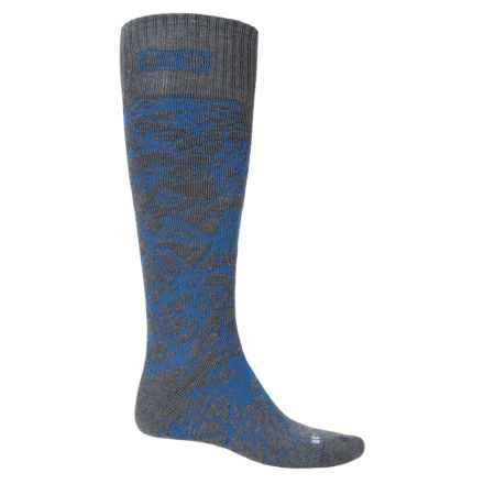 DC Shoes Scribble Midweight Ski Socks - Over the Calf (For Men) in Charcoal Multi - Closeouts