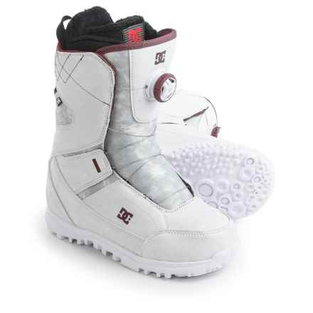 DC Shoes Search BOA® Snowboard Boots (For Women) in White/Syrah - Closeouts