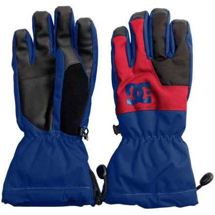 DC Shoes Seger Gloves - Waterproof, Insulated (For Boys) in Surf The Web - Closeouts