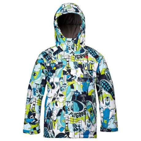 DC Shoes Servo Snowboard Jacket - Insulated (For Boys) in Caviar/Pattern 2