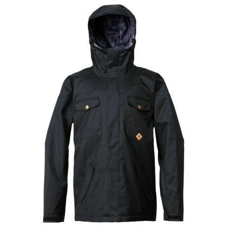 DC Shoes Servo Snowboard Jacket - Insulated (For Men) in Drizzle/Stripe 1