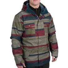 DC Shoes Servo Snowboard Jacket - Insulated (For Men) in Drizzle/Stripe 1 - Closeouts