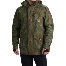 DC Shoes Servo Snowboard Jacket - Waterproof, Insulated (For Men) in Camo Lodge - Closeouts