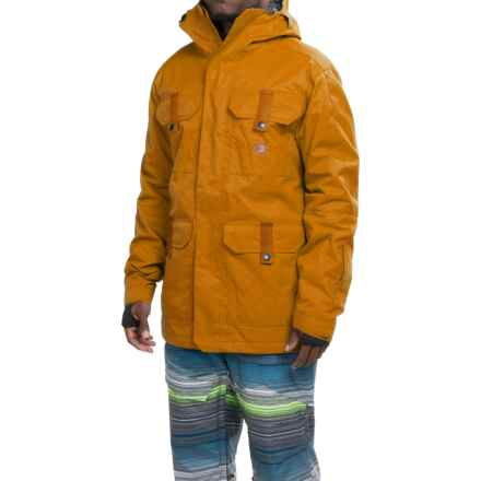 DC Shoes Servo Snowboard Jacket - Waterproof, Insulated (For Men) in Cathay Spice - Closeouts