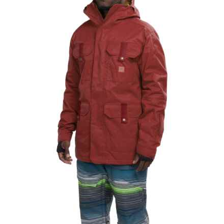 DC Shoes Servo Snowboard Jacket - Waterproof, Insulated (For Men) in Syrah - Closeouts