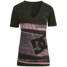 DC Shoes Slice Bread T-Shirt - Cotton Jersey, Short Sleeve (For Women) in Black - Closeouts