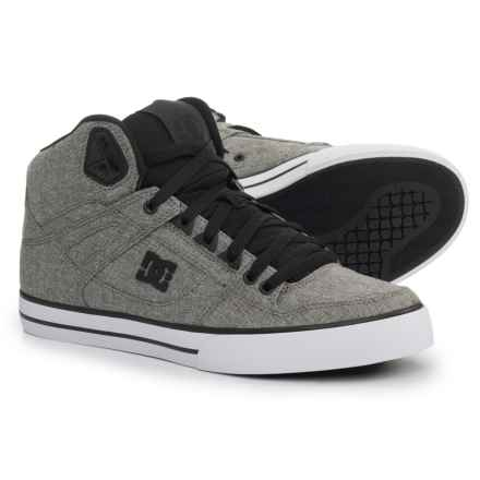 DC Shoes Spartan High-Top Sneakers (For Men) in Grey - Closeouts