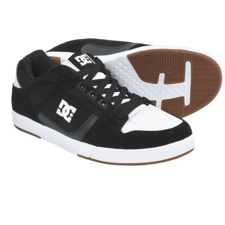 DC Shoes Spartan Lite Skate Shoes (For Men) in Black/White/Gum
