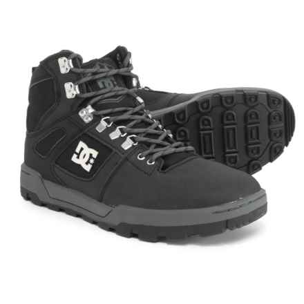 DC Shoes Spartan Thinsulate® Hiking Boots - Leather (For Men) in Black - Closeouts