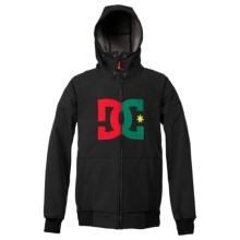 DC Shoes Spectrum Soft Shell Jacket (For Men) in Black/Chinese Red - Closeouts