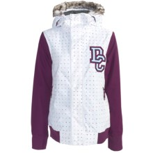 DC Shoes Squad Jacket - Insulated, Removable Faux-Fur Trim (For Women) in Dc Gradient Print/Dark Purple - Closeouts