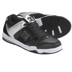 DC Shoes Stack SK Skate Shoes (For Men) in Black/Metallic Silver