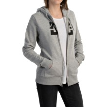 DC Shoes Star E ZH Hoodie - Full Zip (For Women) in Heather Grey - Closeouts