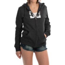 DC Shoes Star E ZH Hoodie - Full Zip (For Women) in Jet Black - Closeouts
