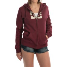 DC Shoes Star E ZH Hoodie - Full Zip (For Women) in Zinfandel - Closeouts