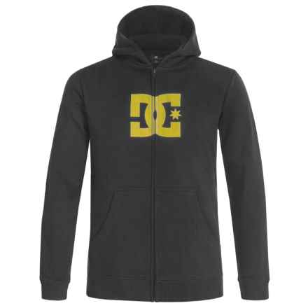 DC Shoes Star Logo Hoodie - Zip-Up (For Big Boys) in Black - Closeouts