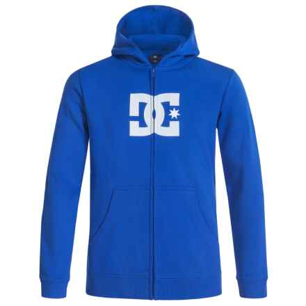 DC Shoes Star Logo Hoodie - Zip-Up (For Big Boys) in Surf The Web - Closeouts