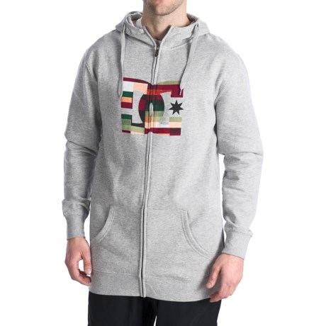 DC Shoes Star Snow Hoodie - Full Zip (For Men) in Heather Grey