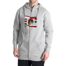 DC Shoes Star Snow Hoodie Sweatshirt - Full Zip (For Men) in Heather Grey - Closeouts