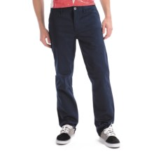 DC Shoes Stretch Cotton Chino Pants - Relaxed Fit (For Men) in Navy - Closeouts