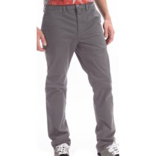 DC Shoes Stretch Cotton Chino Pants - Straight Fit (For Men) in Castlerock - Closeouts