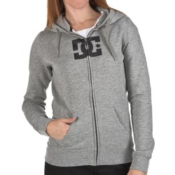 DC Shoes T-Star E Zip Hoodie Sweatshirt (For Women) in Heather Grey