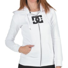 DC Shoes T-Star E Zip Hoodie Sweatshirt (For Women) in White - Closeouts