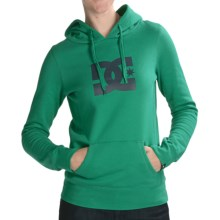 DC Shoes T-Star Pullover Hoodie Sweatshirt - Cotton Blend (For Women) in Emerald - Closeouts